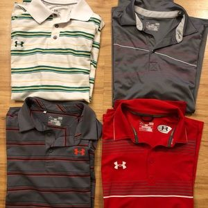 Under Armour lot of 4 Polos